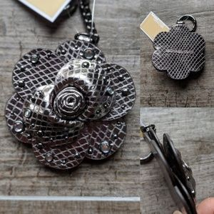 Michael Kors Jewel Studded Rose Keychain Key Charm